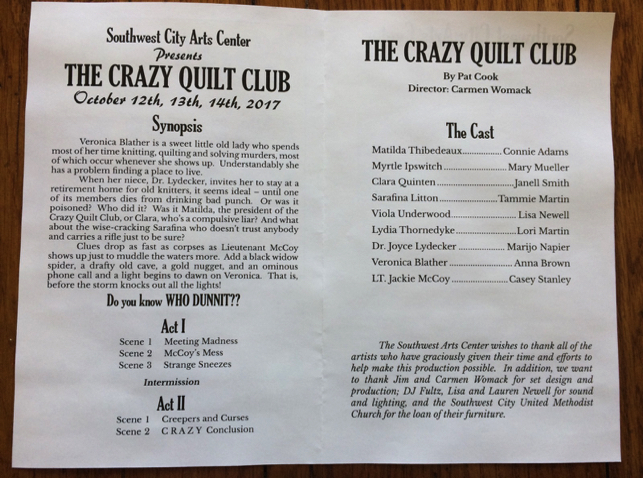 The Crazy Quilt Club cast